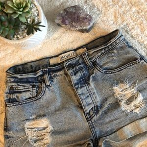 Brandy Melville blue high waisted shorts